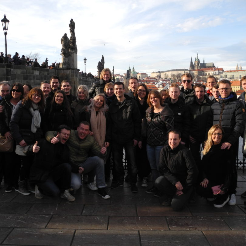 Sweden group tour of Prague
