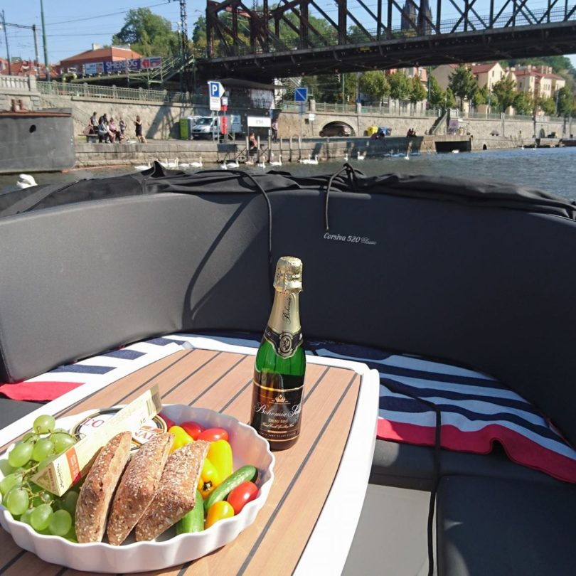 private cruise in Prague with catering