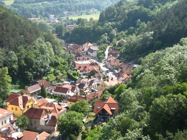 beautiful overlook from Karlstejn Castle