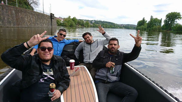 nice guys on a private cruise in Prague