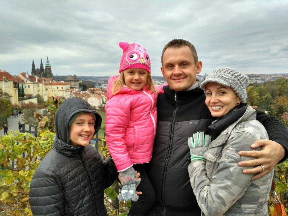 photo of family in prague