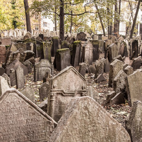 Photo of the Jewish Cemetery in Prague